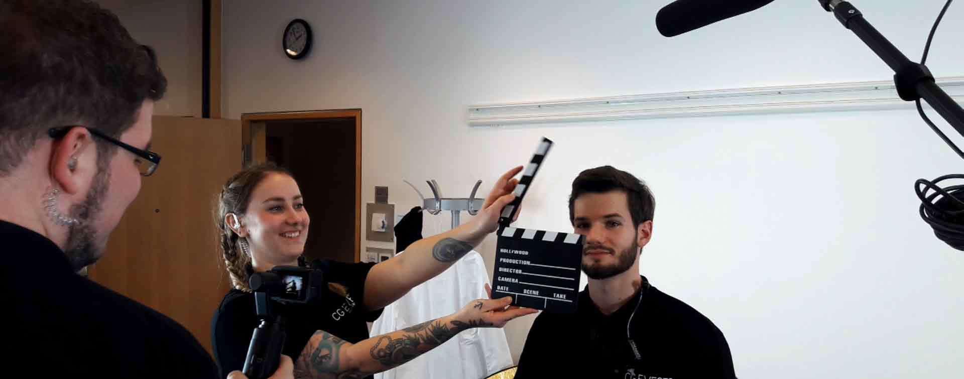 Team beim Filmen