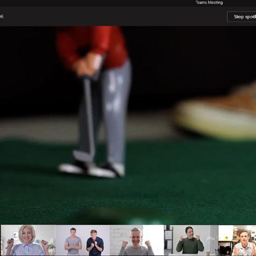virtuelles Indoor Minigolf Turnier