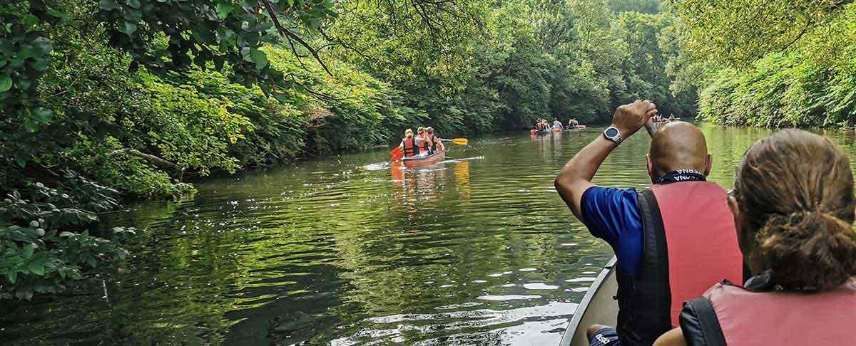 Mit dem Kanu auf der Wupper