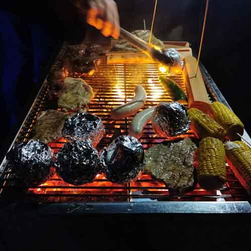 Leckerein auf dem Winter-grill