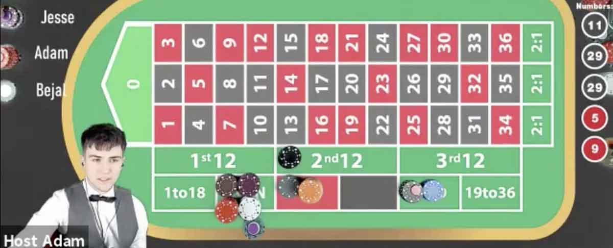 Roulette virtueller Tisch